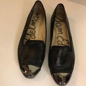 Sam Edelman Aster patent toe flats, black, sz 9